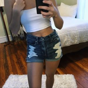 AE Distressed Stretchy Denim Shorts